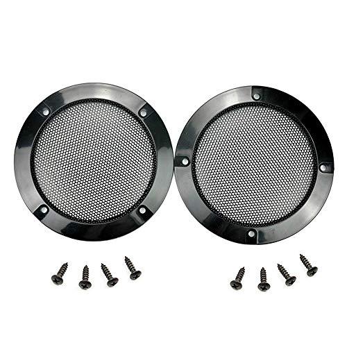 """2 STK. Lautsprecher Abdeckung Grills Cover Case mit 8 STK. Schrauben für 5 Zoll Lautsprecher Montage Home Audio DIY (OD: 6.02""""/153mm)"""