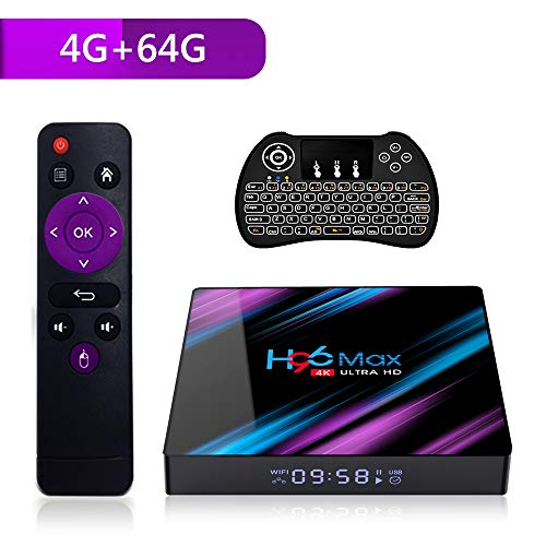 Android 9.0 TV Box, H96 MAX Smart TV Box with 4GB