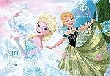 Disney Puzzle Frozen Glitzer-Puzzle 100 Teile Die beliebten Schwestern Elsa und Anna, aus dem bekannten Disneyfilm Frozen, zieren dieses tolle Glitzerpuzzle. Die 100 Puzzleteile sind sehr robust und haben eine gute Größe. Mit schönen Glitzereffekten und farbigen Kontrasten ist dieses Puzzle ein echter Hingucker. Für den sicheren Transport ist die Verpackung mit einem Tragegriff und einer Klettverschlusslasche ausgestattet. Die Frozen-Fans werden begeistert sein.