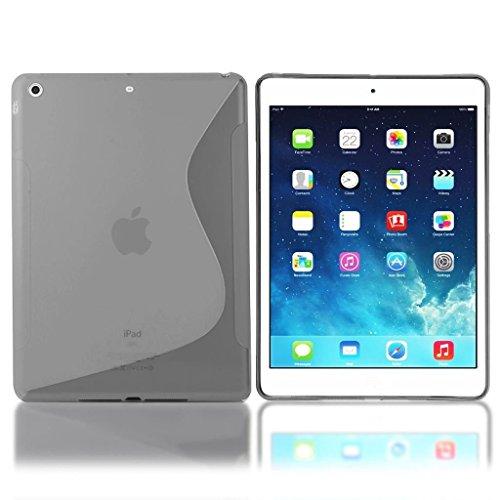 TPU Silikon Gel Skin grau Case Cover S-Line Sline für Apple iPad Mini 4