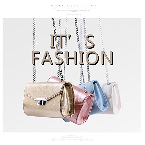 Sacchetti di busta di retro eleganti borsa della catena del sacchetto della leva del fascio di Yoome della borsa per le donne borse per gli adolescenti - Nero Nero