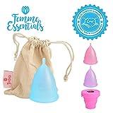 Cup menstruelle Femme Essentials + sac - Taille S / Petite (couleur bleu)