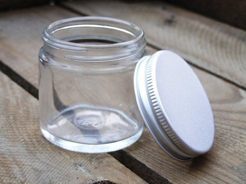 12Stück-30ml Clear Gläsern mit Aluminium Deckel für Aromatherapie-Mischungen/Cremes