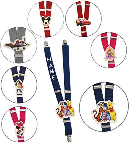 Pooh 3 Stück Rock (alles-meine.de GmbH Hosenträger - stufenlos verstellbar -  Disney - Winnie The Pooh - blau  - incl. Name - 1 bis 6 Jahre - 2,5 cm - 3 Clips - Y - Form - Kinderhosenträger - deh..)