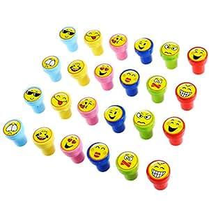 Toymytoy 24pcs plastikstempel emoji stempel for Amazon stempel