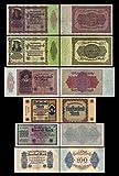 *** 100, 1000, 5000, 5000, 50000, 50000 Mark - 6 Reichsbanknoten - 3.Ausgabe 1922 - Pick 75 - 80 - Reproduktion ***