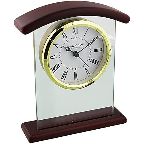 Widdop Bingham-Orologio da mensola ad arco in vetro, a forma di orologio