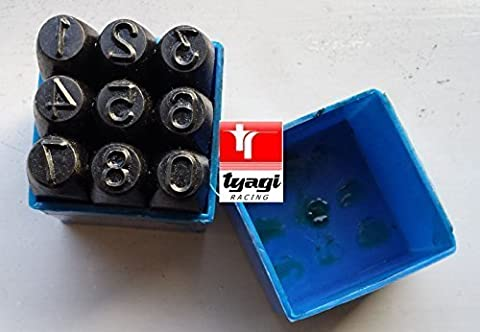 2mm 0-9 Metal Alphabet Punches Stamp Set Letters, steel, punch set Metal Die Tool Case Craft 9 pcs Tyagi Racing®