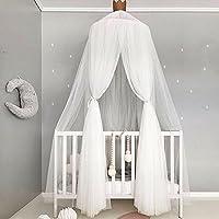 Pueri Baby Betthimmel Deko Baldachin Mückennetz Moskitonetz für Baby Kinder