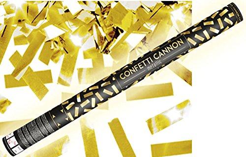 Konfetti Shooter 5 Stück Party Popper gold Folien Konfetti Kanone XXL 80 cm ! Hochzeit - von Haus der Herzen ®
