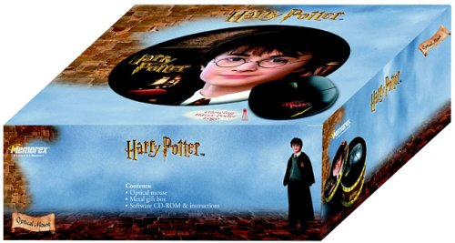 Click for larger image of Harry Potter Optical Mouse in Metal Box