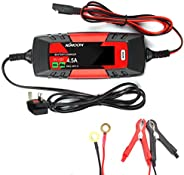 Docooler Car Battery Charger Battery Charger & Maintainer 6V/12V 4Amp Intelligent Automatic Battery Charge