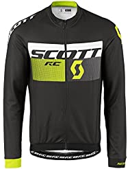 Scott RC AS Winter Fahrrad Trikot schwarz/gelb 2017