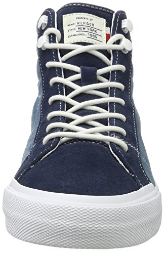 Tommy Hilfiger Y2285armouth 3b, Sneakers Hautes Homme Bleu (Jeans Tommy Navy)