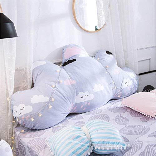 ZHT Komfortables Heimkissen/Kissen, Bequeme und einfache Kissen, Prinzessin Bett Kissen/Abnehmbare Rückenkissen/Baumwolle Crash Pad,150x75x25cm (59x30x10inch),CC (Pad Bett Crash)