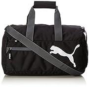 PUMA Fundamentals Sports Bag XS BlackDati:o Materiale: 100% Poliestereo Dimensioni: Larghezza 40 cm, altezza 21 cm, profondità 22 centimetrio Colore: Nero (Black)o Fabbricante: PUMA