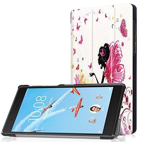 Lenovo Tab 7 TB-7504X Cover, Custodia Protettiva in Pelle con Coperture da Supporto per Lenovo Tab 7 / Tab4 7 (TB-7504F/TB-7504N/TB-7504X) Tablet con Display da 7'