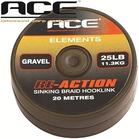 treccia a terminali ace re-action gravel - 15 (Bobine Diving)