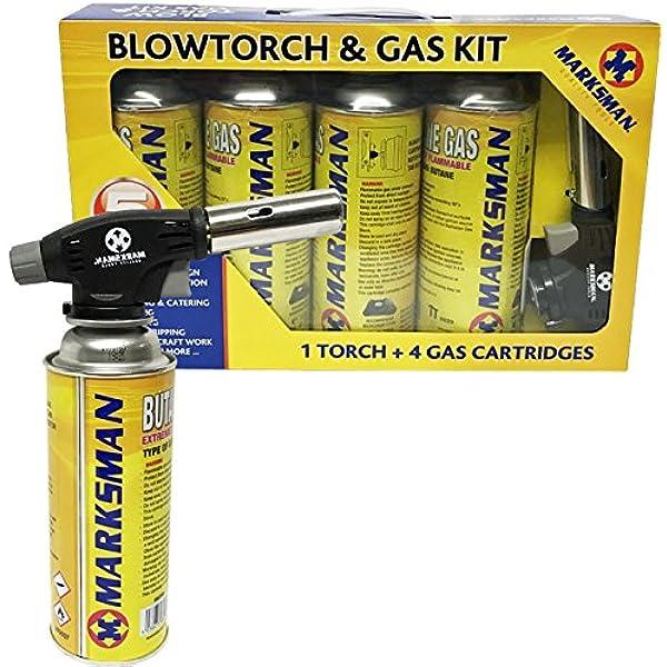 BLOW TORCH BUTANE FLAMETHROWER WEED BURNER WELDING GAS AUTO IGNITION SOLDERING