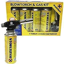 Kit de soplete de gas butano, lanzallamas, para soldar, con encendido automático,