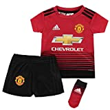 adidas Baby Manchester United FC Home Mini-heimausrüstung, Real Red/Black, 86