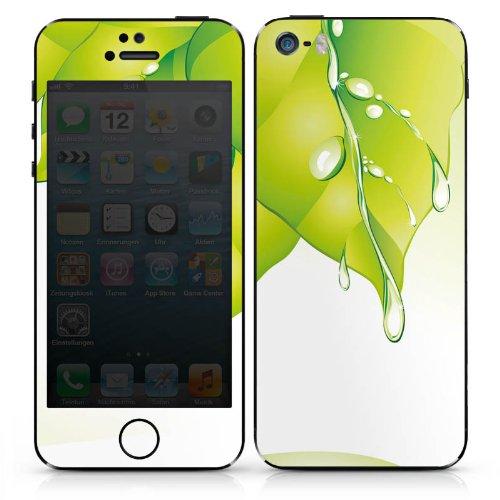 Apple iPhone 4s Case Skin Sticker aus Vinyl-Folie Aufkleber Blätter Regentropfen Tautropfen DesignSkins® glänzend