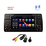 freeauto für BMW E46/320/325 Quad Core 17,8 cm Android 7.1 Auto Stereo-Multi-Touchscreen Radio Player GPS 1080P Video Screen Mirroring OBD2 WIFI Canbus Reifendruck Monitoring hinten Kamera