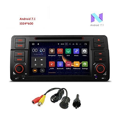 Freeauto per BMW E46/320/325 Quad Core 17,8 cm Android 7.1 autoradio schermo multi-touch radio CD DVD Player GPS 1080p video Screen mirroring OBD2 WiFi Canbus