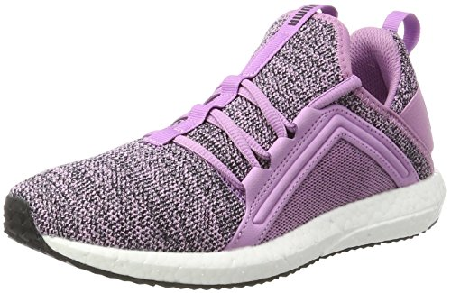 Puma Running Damen Kurze (Puma Damen Mega Nrgy Knit Outdoor Fitnessschuhe, Violett (Smoky Grape-Black), 38.5 EU)