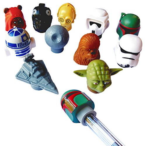LOT de 4 figurines Star Wars embouts pour stylo crayon feutre ...