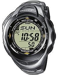 a0dc14f4bfdb Casio PRW-1200T-7VER - Reloj digital unisex de cuarzo con correa de titanio  plateada (altímetro