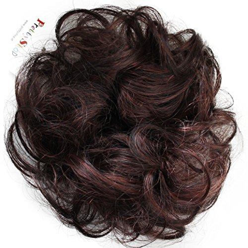 PRETTYSHOP 100% Echthaar Humanhair Haargummi Haarteil hairpiece Haarverdichtung Zopf Haarband Haarschmuck div. Farben (braunmix #1BH33)