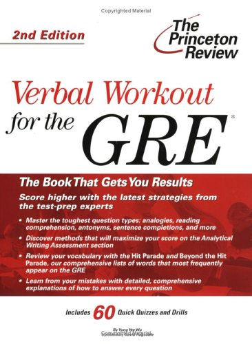Pdf Download Verbal Workout For The Gre 2nd Edition Princeton