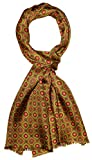 Lorenzo Cana Luxus Herren Schal 100% Seide in harmonischen Farben bedruckt doppellagig Seidenschal Seidentuch Tuch Dandy Style 30 cm x 160 cm