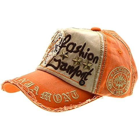 Carta Patch Remaches Casual gorra de béisbol de algodón y sombrero al aire libre de moda para hombres y mujeres-naranja, iParaAiluRy