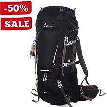 WolfWise Trekkingrucksack, Wanderrucksack Reiserucksack, Wasserdichter Rucksack mit Regenschutzhülle, für Camping/ Wandern/ Bergsteigen/ Reisen, Nylon