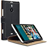 Nokia Lumia 1520 Low Profile PU Leather Wallet Case / Cover / Pouch / Holster with Viewing Stand - Black By Covert
