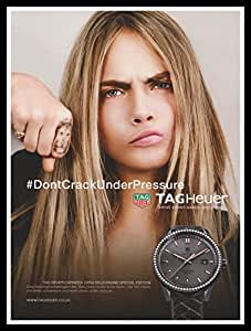 gerahmt a4 original fashion magazin werbung bild cara delevingne tag heuer. Black Bedroom Furniture Sets. Home Design Ideas