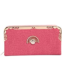 Fiona Trends Women's Pink Faux Leather Clutch(FT14-pink)