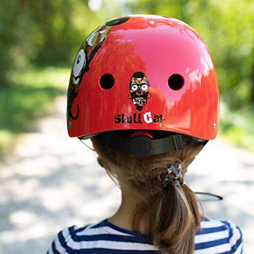 Skullcap® BMX Helm ☢ Skaterhelm ☢ Fahrradhelm ☢, Herren | Damen | Jungs & Kinderhelm, schwarz matt & glänzend (Red Ocean, S (51 – 54 cm)) - 6