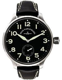 Zeno Watch Basel - Reloj manual para mujer con correa de piel, color multicolor