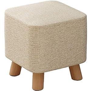 YUMUO Kreativ Würfel Ottoman,fußhocker Moderngestaltet Hocker Beistelltisch Hocker Stuhl Vielseitig Für Zuhause Garten Wohnzimmer D Buche