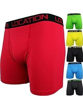 6 Paar Herren Boxershorts Sport Längeres Bein Trunks Unterhose Erwachsene Unterwäsche Neu