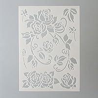 Efco Stencil Roses / 7 Designs DIN A 5, 21 x 15 x 1 cm
