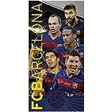 Fc Barcelone - Serviette de plage de bain 100% coton - Messi - Suarez - Neymar