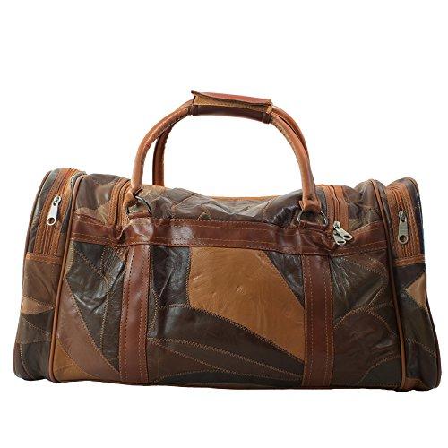 CTM Unisexe Sac Voyage avec bandoulière en cuir intérieur - 51x28x22 Cm