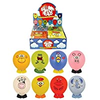 Party Balloons Balloon animal funny face heads with stickers and animal feet party bag filler pack of 8