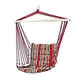 Vanfree Hängesessel / Hängestuhl / Hängesitz mit Spreizstab - 100% Baumwolle - Belastbarkeit bis 120 kg - Hängematte Fashion Mehrfarbig