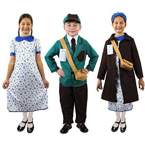 ILOVEFANCYDRESS Historisches Kostüm 1./2. Weltkrieg für Mädchen & - Karneval Flüchtlings Kostüm