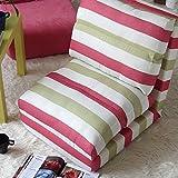 ZHANGRONG-Sedie a sdraio- Misto lino a righe Mediterraneo pieghevole divano letto con Sedia a sdraio pieghevole pigro divano (colore facoltativo) --Applicabile all'interno ed all'esterno ( Colore : C )